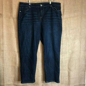 Style & Co Denim BOYFRIEND Jeans Size 18 Dark Wash